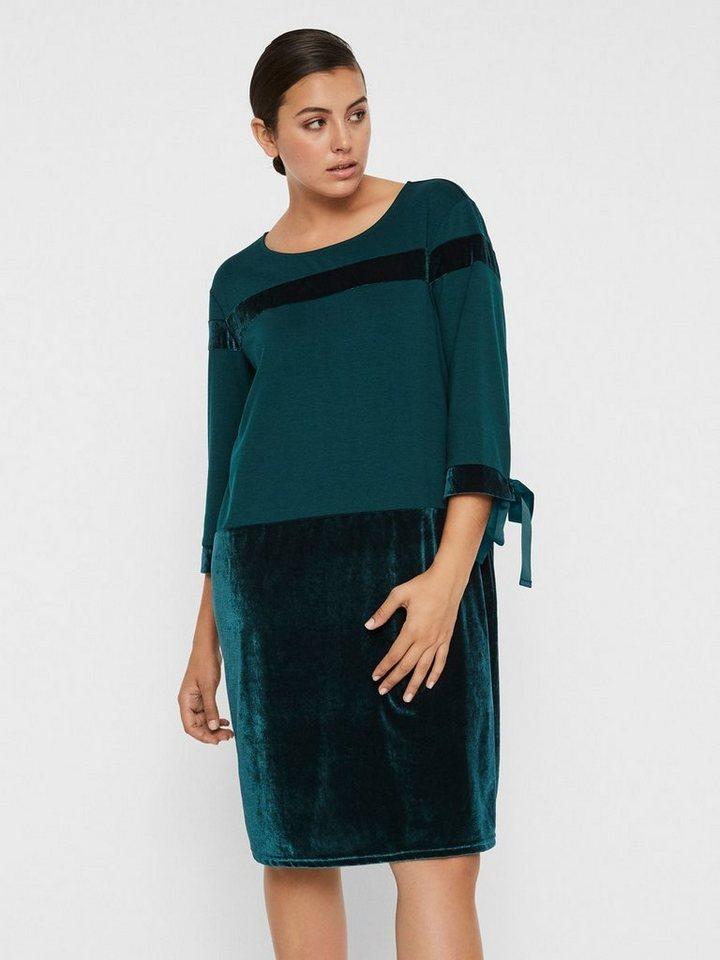 Junarose Velours jurk groen