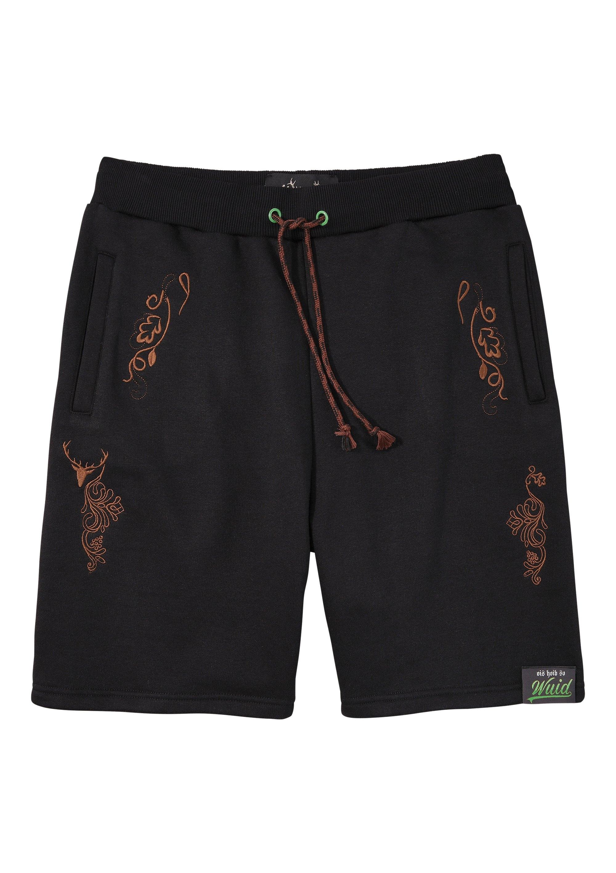 Hangowear folklore-sweatbermuda heren met borduurelementen - verschillende betaalmethodes