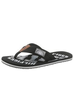 tommy hilfiger teenslippers essential th beach sandal met logoprint zwart