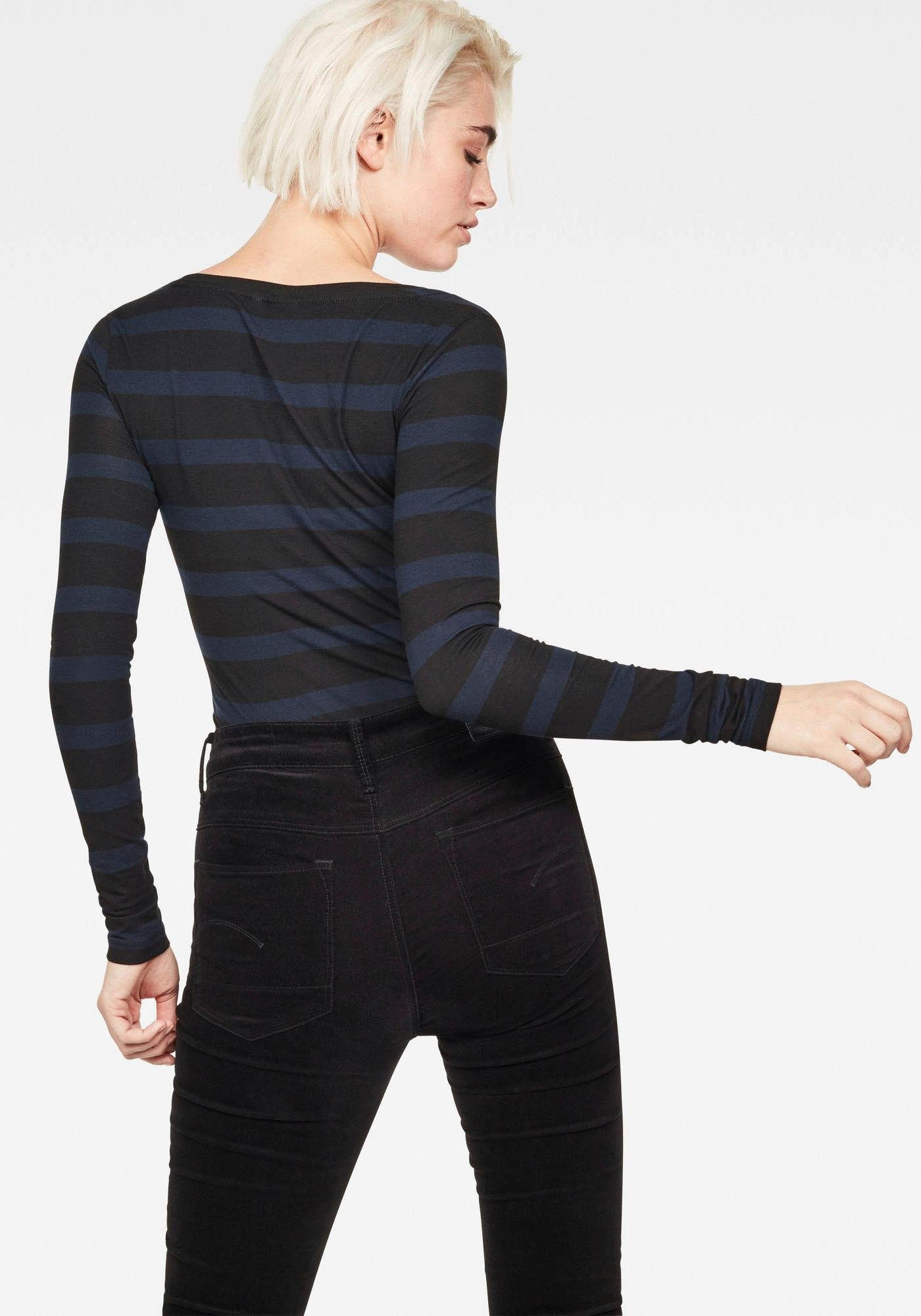 G De Met R Wmn T Online Shop L Lange Stripe Mouwenbase star Raw S Shirt sIn wkO8nP0X