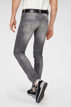 chasin' slim fit jeans »ego« grijs