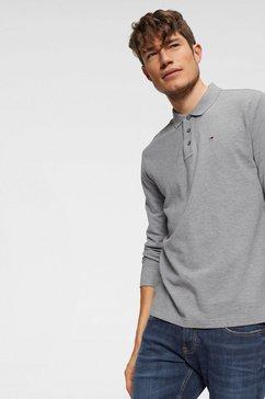 tommy jeans poloshirt met lange mouwen »tjm essential ls polo« grijs