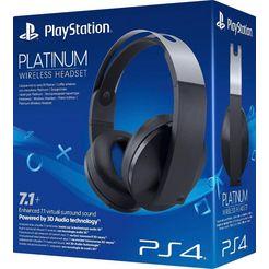 playstation 4 »platinum« wireless headset (radiosignaal, met snoer, ingebouwde microfoon) zwart
