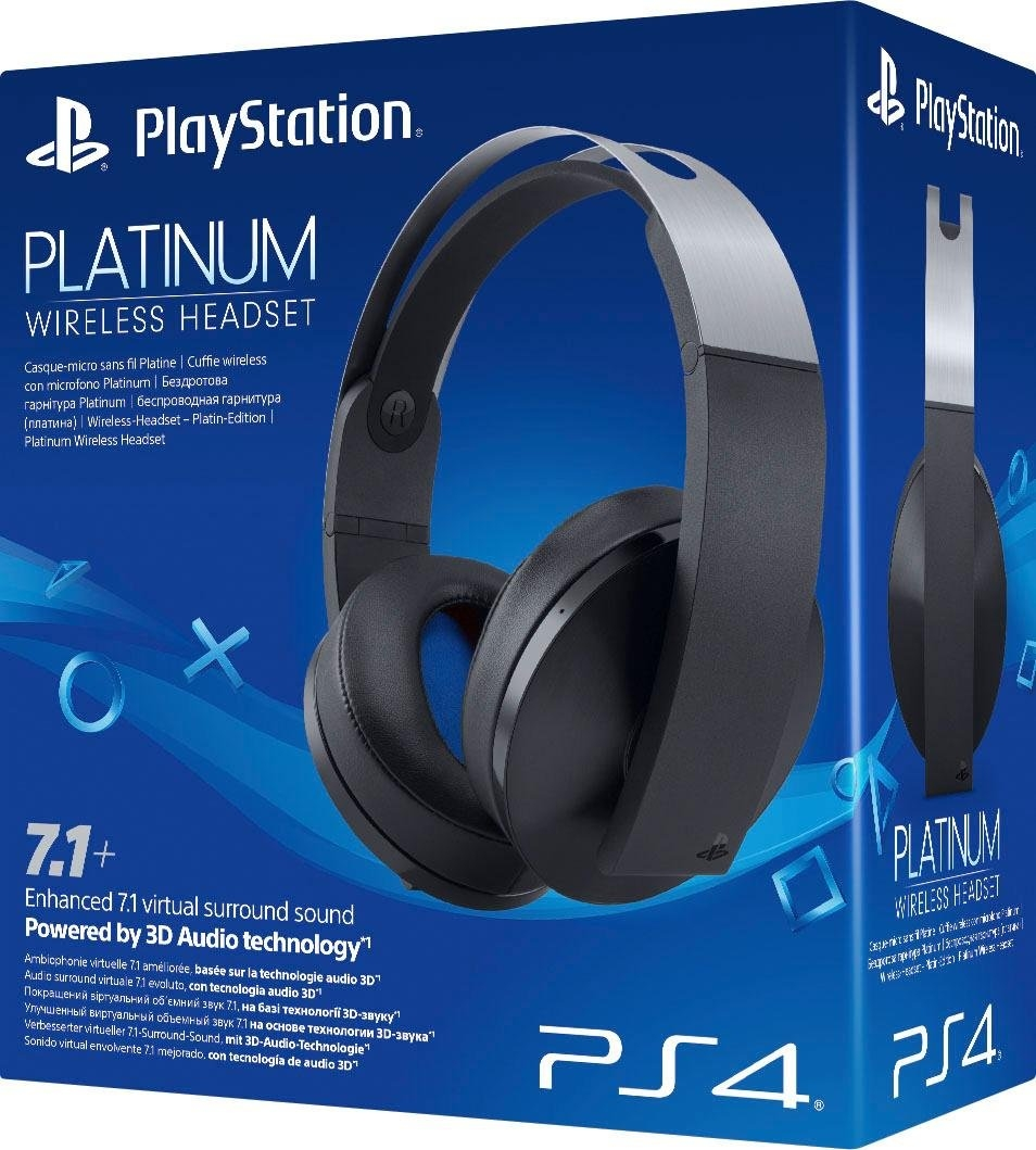 PlayStation 4 »Platinum« wireless headset (radiosignaal, met snoer, ingebouwde microfoon) goedkoop op otto.nl kopen
