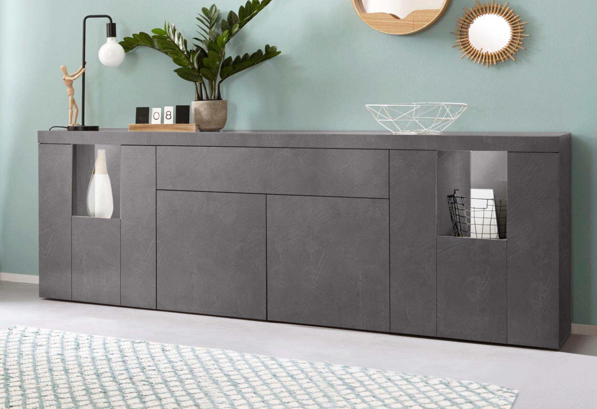 Tecnos dressoir »Slot«, breedte 220 cm nu online kopen bij OTTO