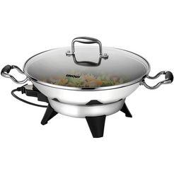 unold elektrische wokpan edel 48736, 1800 watt zilver