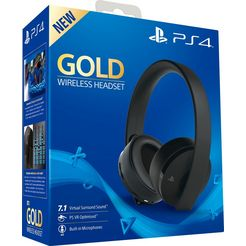 playstation 4 »gold edition« wireless headset (radiosignaal, bedraad, ruisonderdrukking) zwart