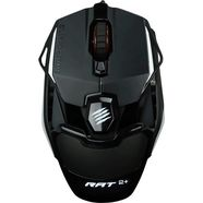 mad catz »r.a.t. 2+« gamingmuis (met snoer, 5000 dpi) zwart