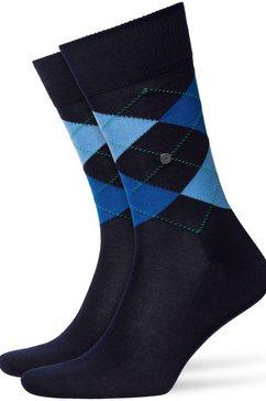 burlington basic sokken manchester met klassiek argylemotief (1 paar) blauw