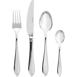 esmeyer bestekset alice edelstaal 18-0, voor dagelijks gebruik (set, 24 delig) zilver