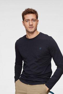 marc o'polo shirt met lange mouwen logo - druck