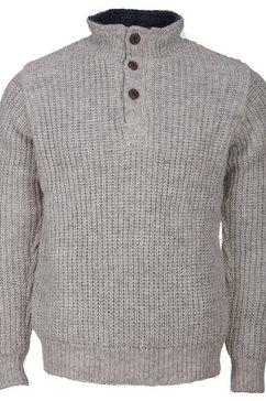 deproc active tricot-fleecejack wollen trui met fleece elkford men grijs