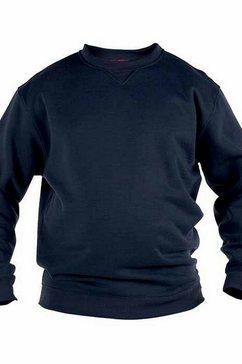 duke clothing trui met ronde hals »herren rockford kingsize sweat pullover« grijs
