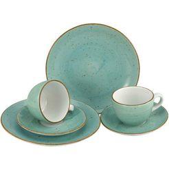 creatable servies vintage nature (set, 6-delig) blauw