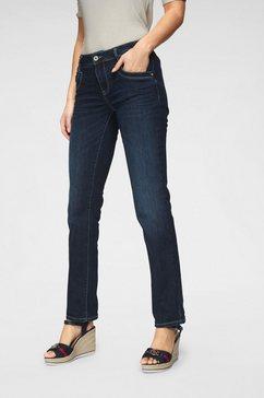 tom tailor rechte jeans met contrasterende stiksels blauw
