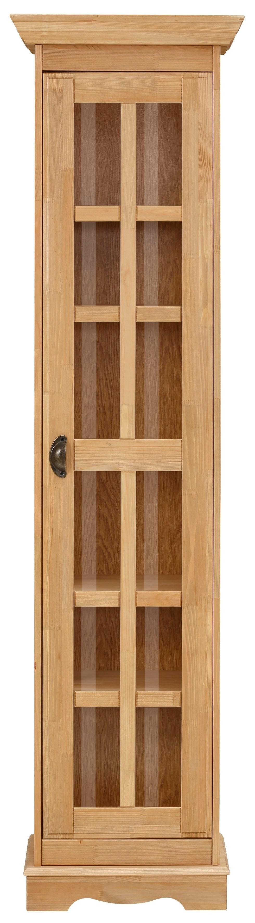 Home affaire vitrinekast EVA 1-deurs, van massief grenen - verschillende betaalmethodes