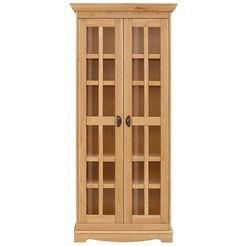 home affaire vitrinekast »eva«, 2-deurs, van massief grenen beige