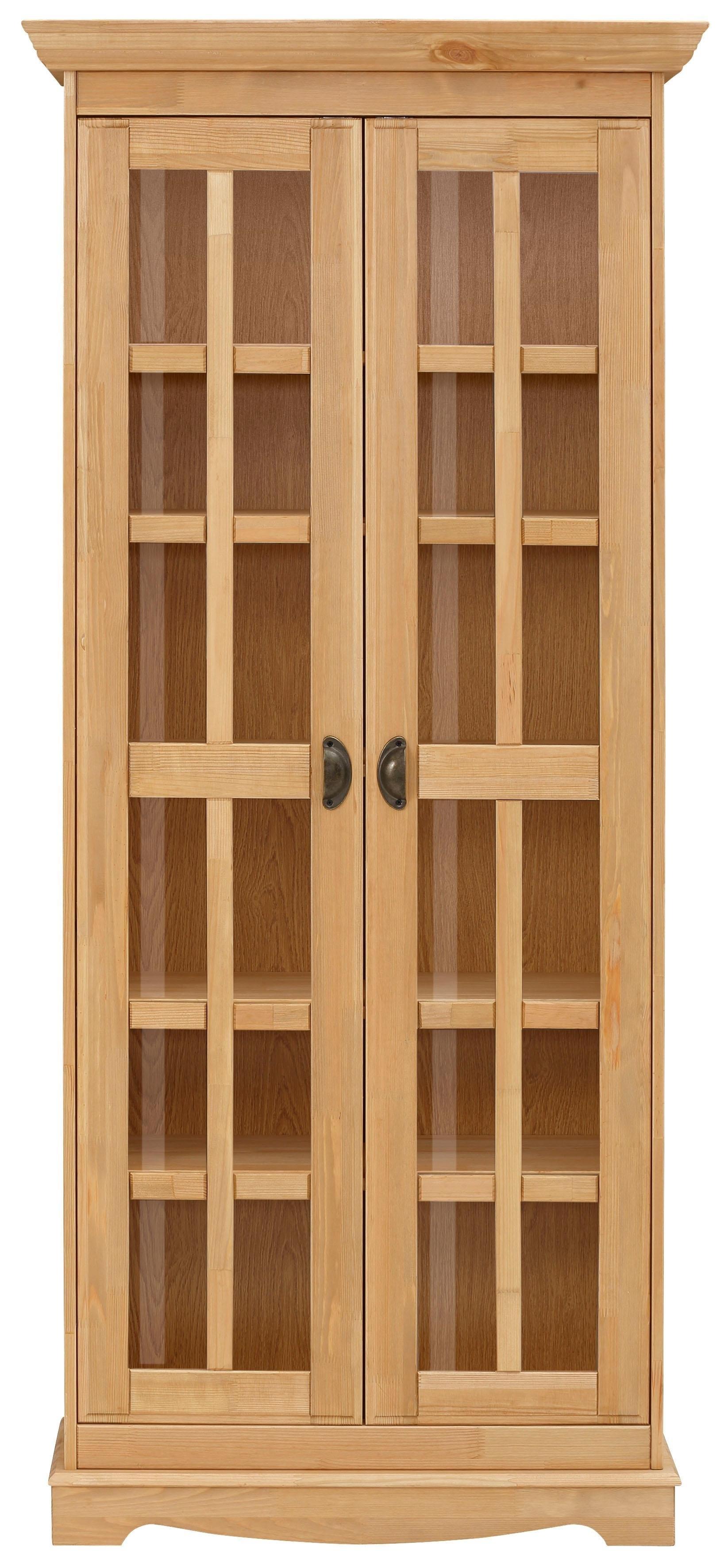 Home Affaire vitrinekast »Eva«, 2-deurs, van massief grenen nu online kopen bij OTTO
