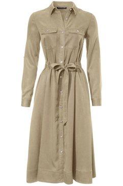 jurk met overhemdkraag beige
