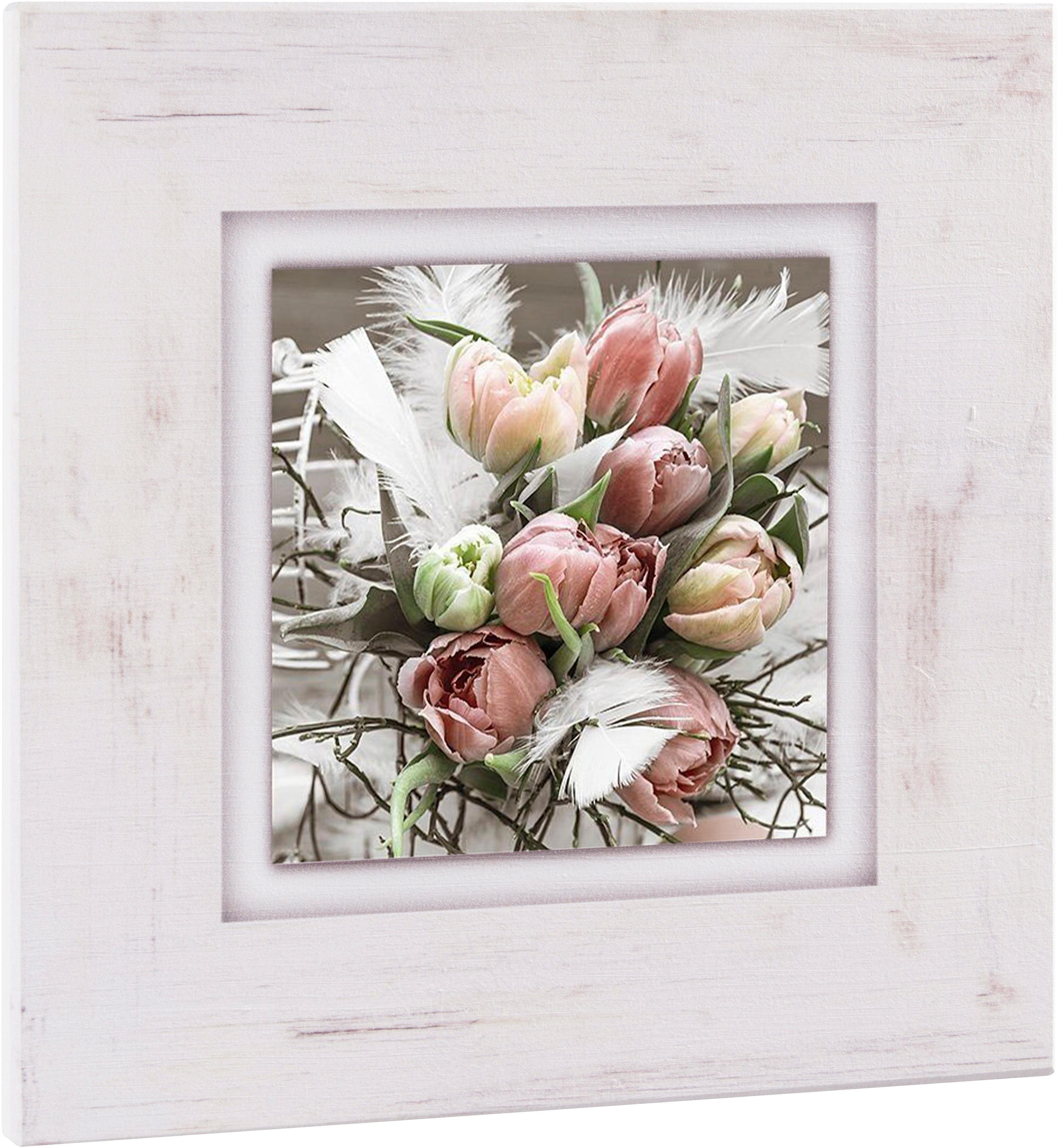 Home Affaire artprint op hout »Tulpenboeket«, 40x40 cm bestellen: 30 dagen bedenktijd