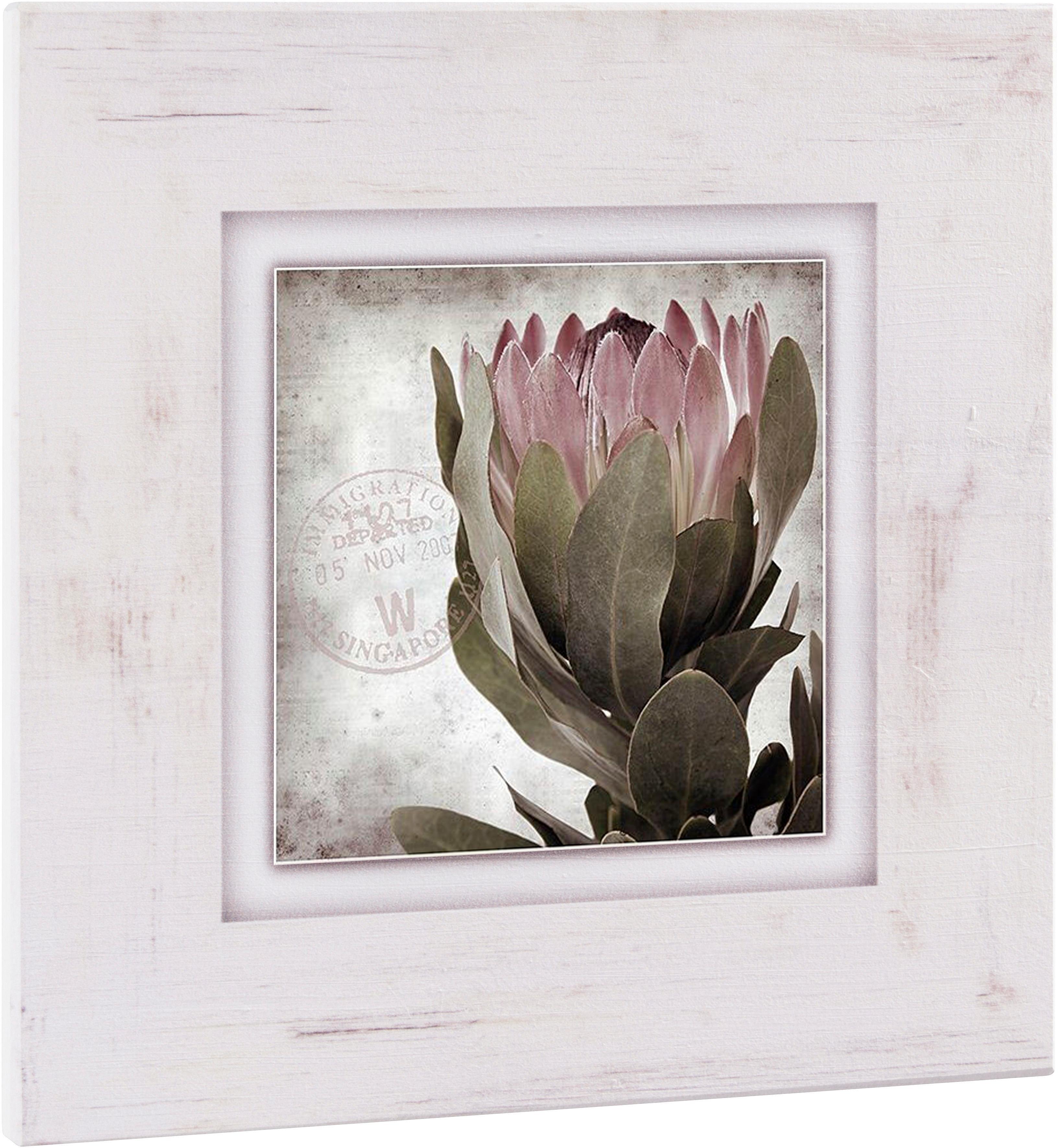 Home Affaire artprint op hout »Bloem«, 40x40 cm nu online bestellen