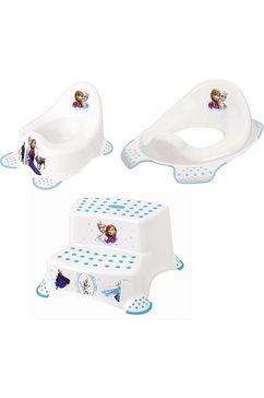 keeeper 3-delige verzorgingsset voor kinderen - potje, toiletzitting en trapkrukje, »frozen« wit