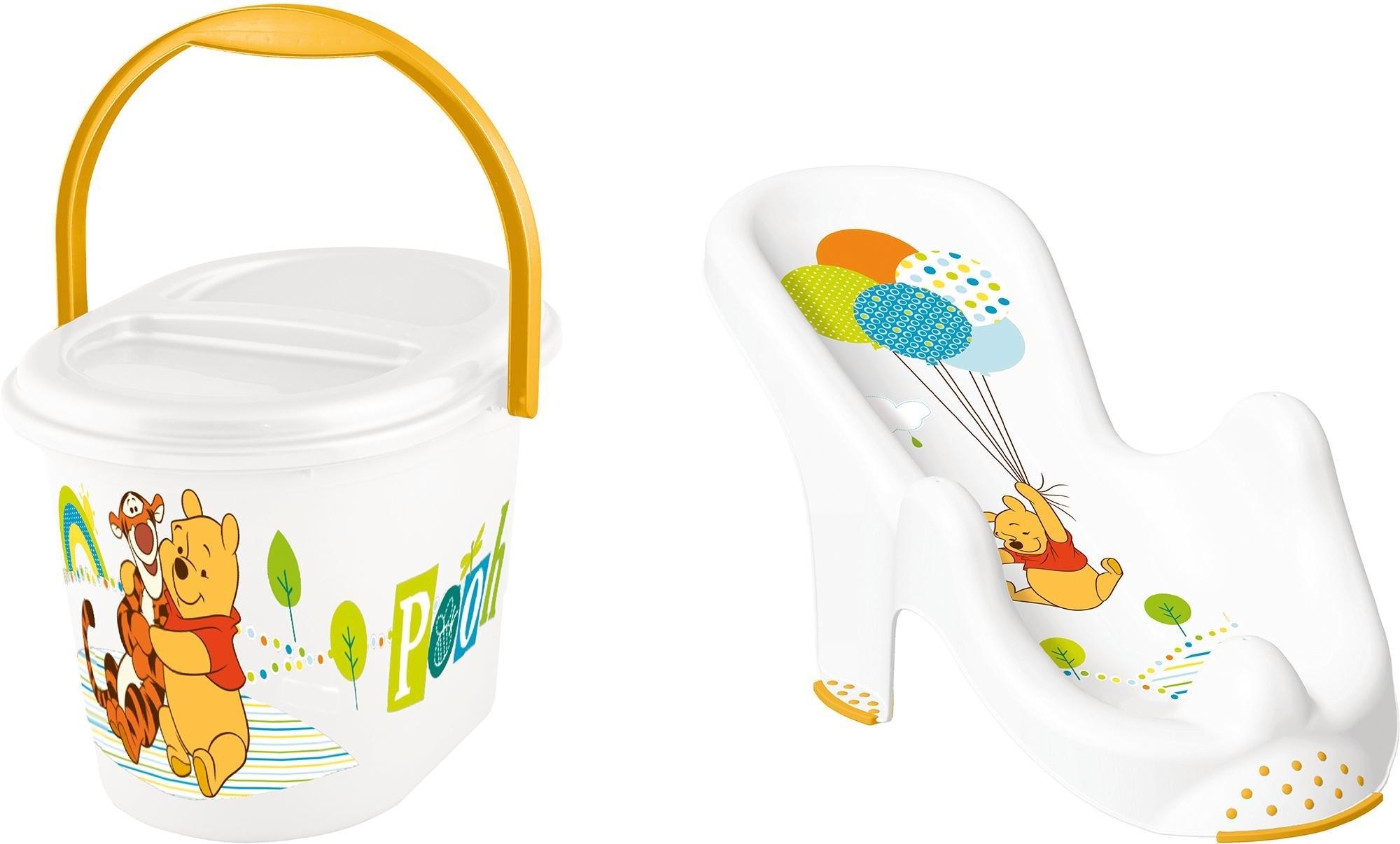 keeeper 2-delige verzorgingsset voor kinderen: badzitje en luieremmer, »Winnie the Pooh« bestellen: 30 dagen bedenktijd