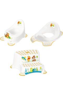 keeeper 3-delige verzorgingsset voor kinderen: potje, toiletzitting en trapkrukje, »winnie the pooh« wit