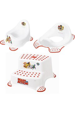 keeeper 3-delige verzorgingsset voor kinderen - potje, toiletzitting en trapkrukje, »paw patrol« wit