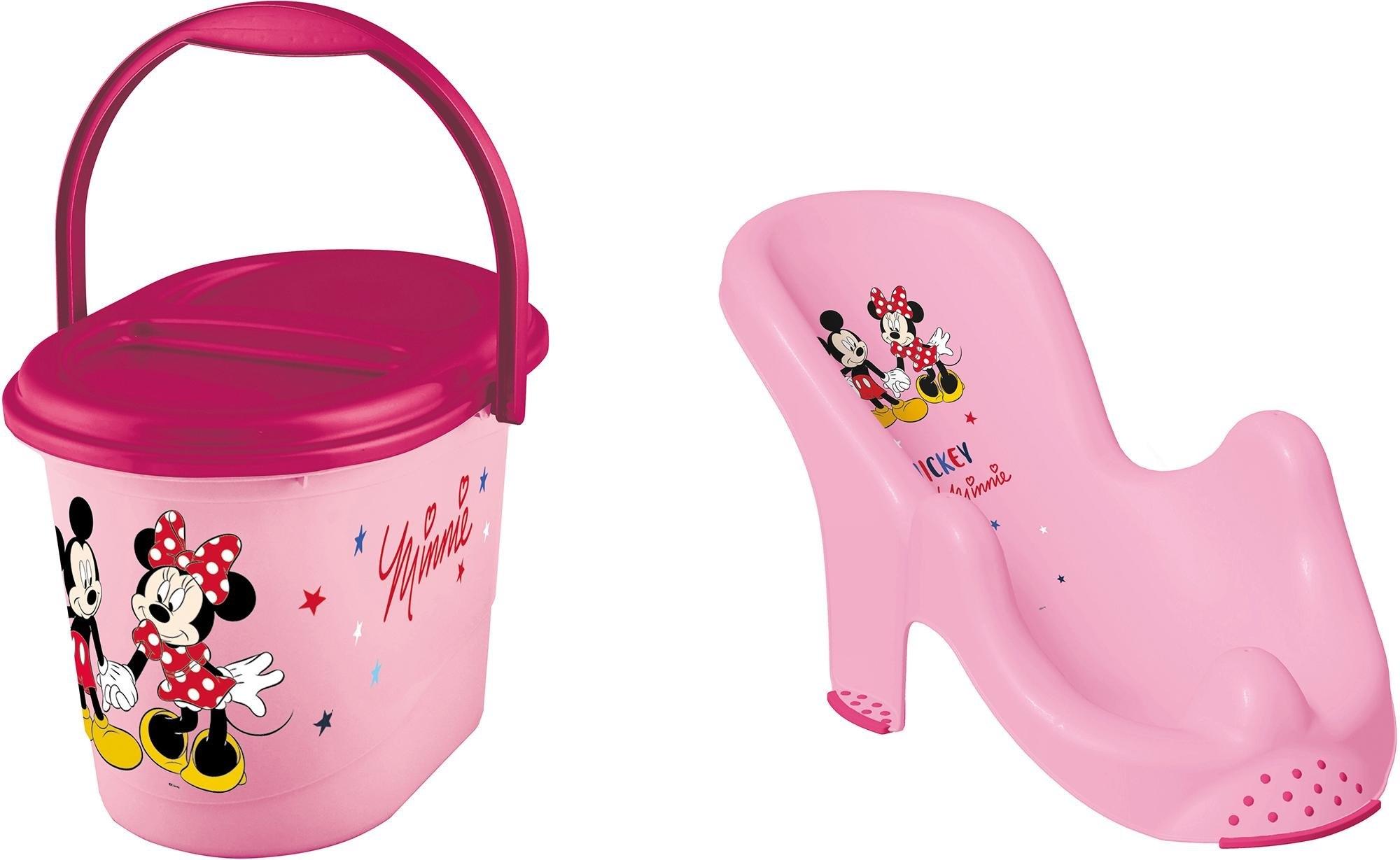 keeeper 2-delige verzorgingsset voor kinderen bestaand uit badzitje en luieremmer, »Minnie Mouse« online kopen op otto.nl