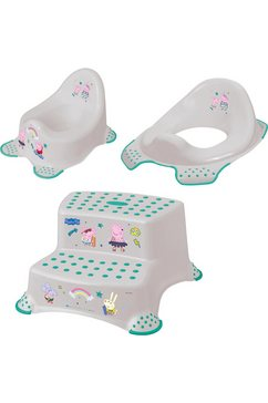 keeeper 3-delige verzorgingsset voor kinderen - potje, toiletzitting en trapkrukje, »peppa big« grijs