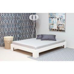 home affaire futonbed van massief grenen wit