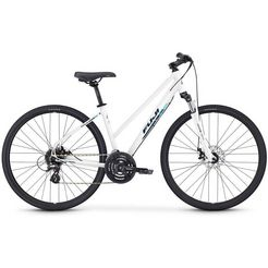 fuji bikes fitnessfiets »traverse 1.5 disc st«, shimano altus, 24 versn. schakelsysteem, derailleur wit