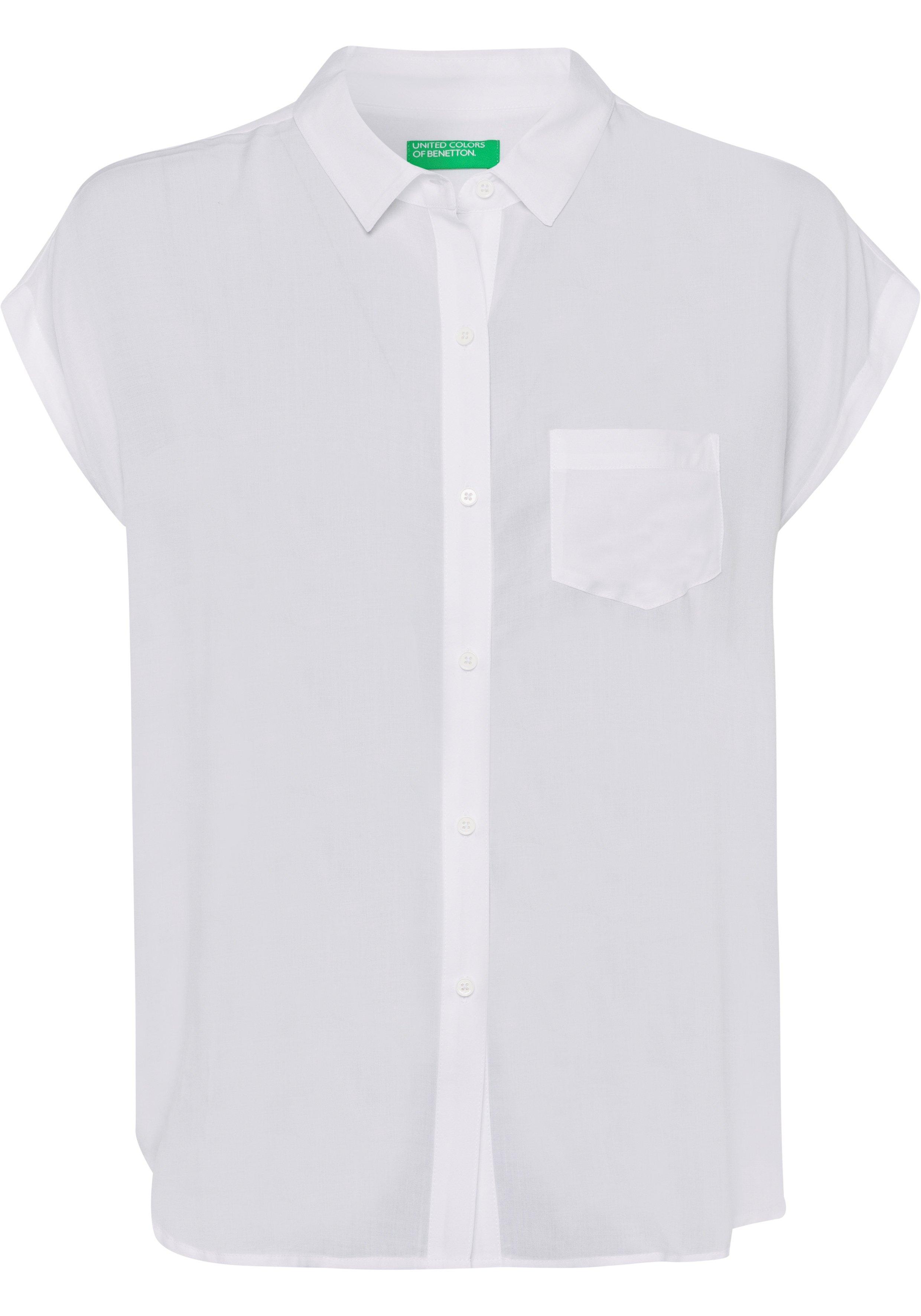 United Colors of Benetton blouse met korte mouwen met borstzakje - verschillende betaalmethodes