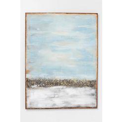 kare olieverfschilderij »abstract horizon« blauw