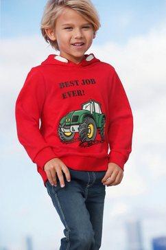 arizona hoodie »tractor« rood