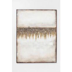 kare olieverfschilderij »abstract fields« goud