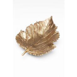 kare decoratieve schaal »leaf gold« goud