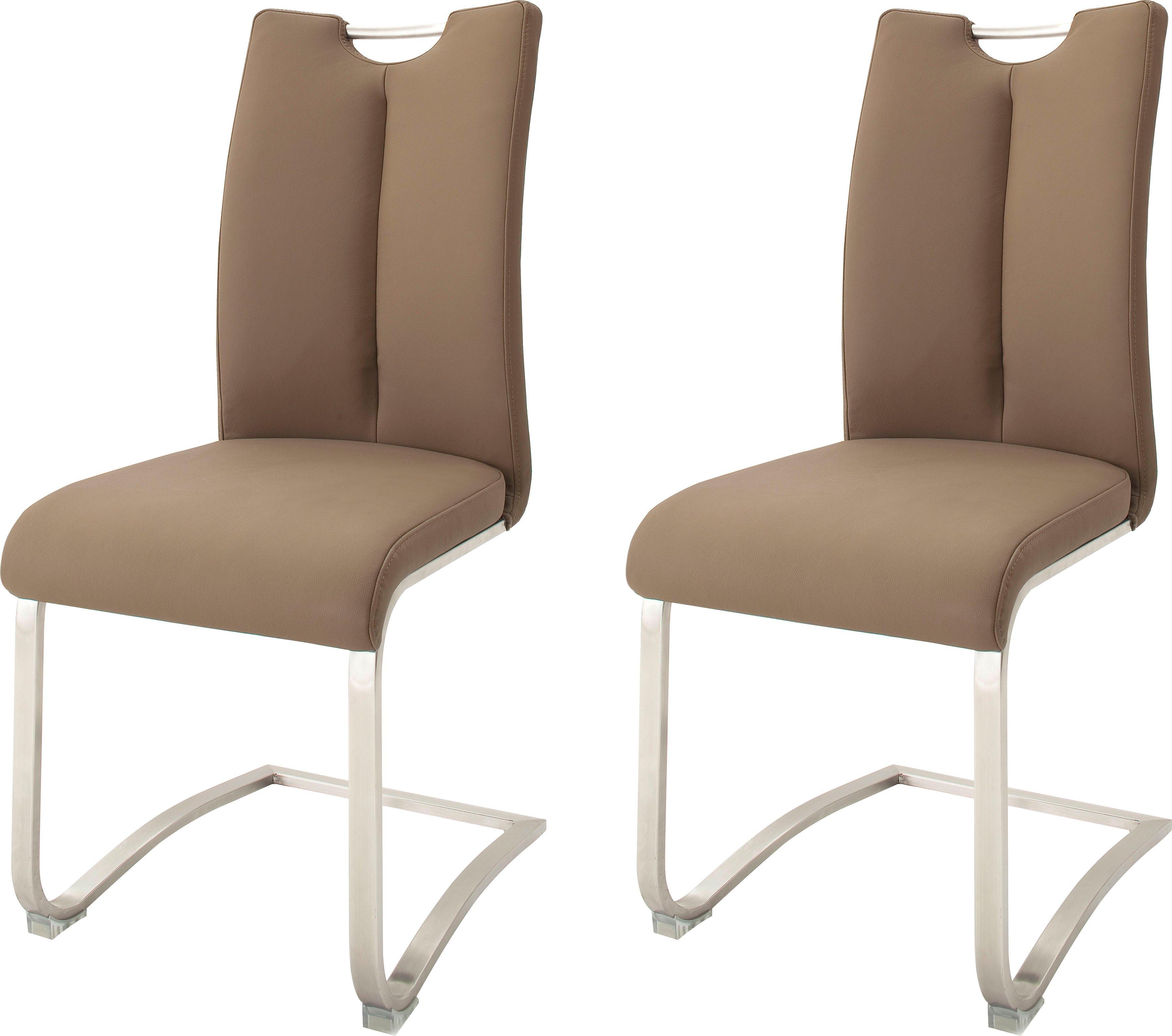 MCA furniture vrijdragende stoel ARTOS Stoel overtrokken met echt leer, tot 140 kg belastbaar (set, 2 stuks) goedkoop op otto.nl kopen