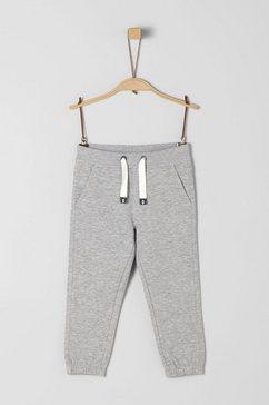 s.oliver junior comfortabele sweatbroek voor jongens grijs