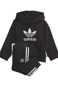 adidas originals joggingpak »trefoil jogger« (set, 2-dlg.) zwart