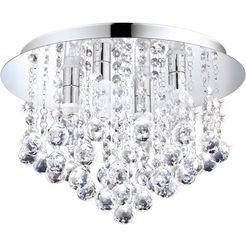 eglo, led-plafondlamp »almonte« zilver