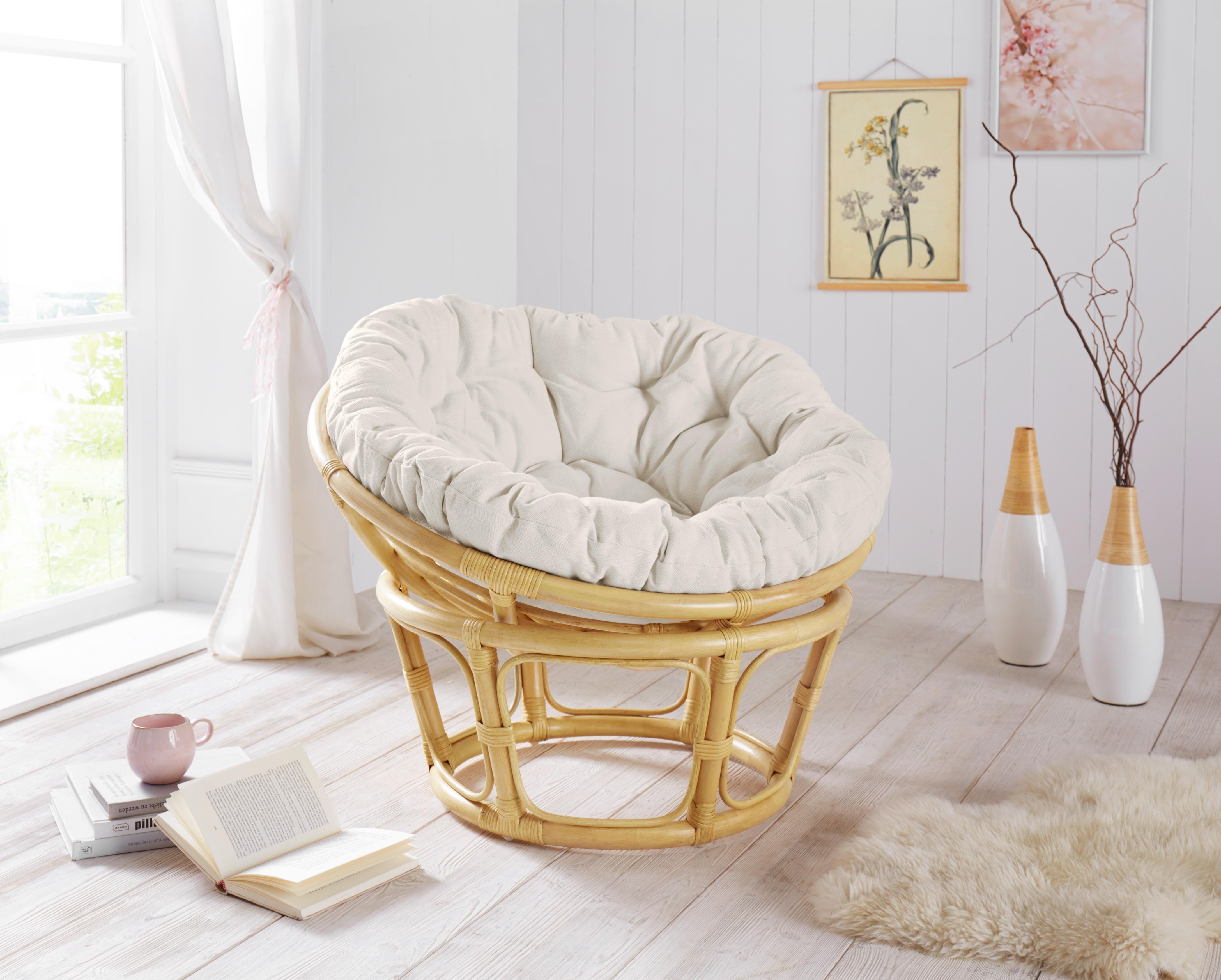 Home affaire Papasan-stoel met kussen nu online bestellen