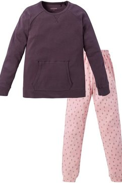 schiesser meisjespyjama - 163259-004 meisjes lang bruin