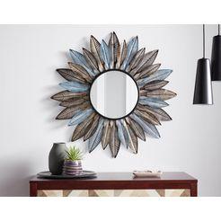 decoratieve spiegel blauw