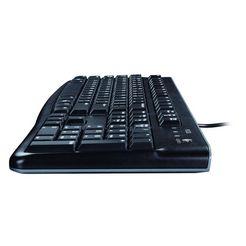 logitech k120 toetsenbord met snoer »vlak profiel« zwart
