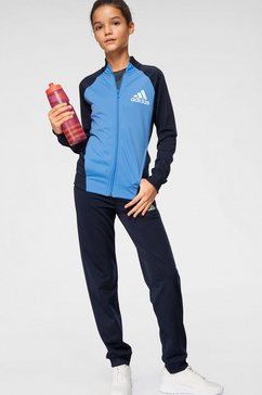 adidas performance trainingspak »younggirl hoody pes tracksuit« (set, 2-delig) blauw