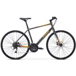 fuji bikes fitnessfiets »absolute 1.7 disc«, shimano acera, 27 versn. schakelsysteem, derailleur grijs