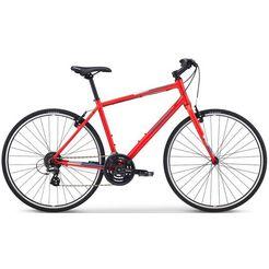 fuji bikes fitnessfiets »absolute 2.1«, shimano altus, 24 versnellingen schakelsysteem, derailleur rood