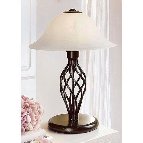 Tafellamp met glas in albast-look met 1 fitting